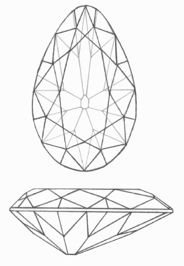 Line Drawing Jewel : The tereschenko diamond